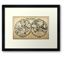 A New Geographical Pocket Companion Comprehending a Description of the Habitable World (New York, 1795) Framed Print