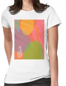 Little Ghost with an Orange and a Grapefruit Womens Fitted T-Shirt