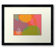 Little Ghost with an Orange and a Grapefruit Framed Print