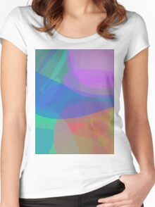 Attractive Colors Women's Fitted Scoop T-Shirt