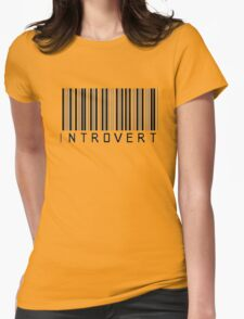 Introvert Barcode Womens Fitted T-Shirt