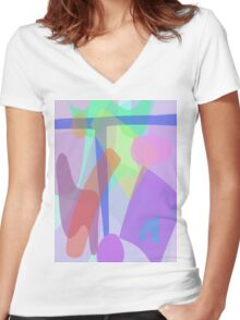 Blue T Women's Fitted V-Neck T-Shirt