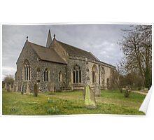 Steeple Mordern Church Poster