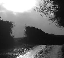 Rain and sunshine hear Solsbury Hill by simontait