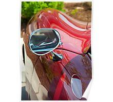 Shinny Porsche 356 Side Mirror Poster