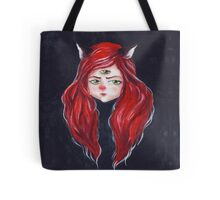 Redhead with cat ears Tote Bag