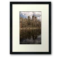 Durham Cathedral Mirrored Framed Print
