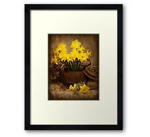 Rusty Teapot in the Spring Framed Print