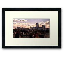 Durham Skyline Framed Print