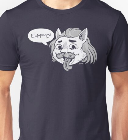 feline einstein Unisex T-Shirt