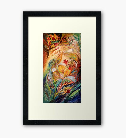The Angels on Wedding triptych (left) Framed Print