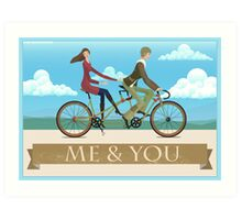 Me & You Bike Art Print