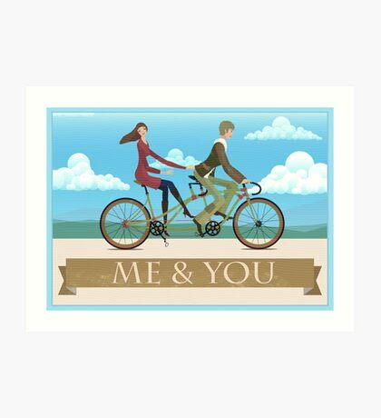 Me & You Bike Art Print