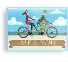 Me & You Bike Metal Print