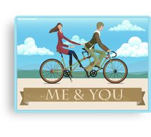 Me & You Bike Canvas Print
