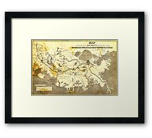 Bayley's Map of Louisiana railroads (1853) Framed Print