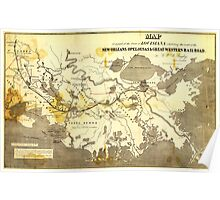 Bayley's Map of Louisiana railroads (1853) Poster