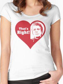 Bourdain Love Women's Fitted Scoop T-Shirt