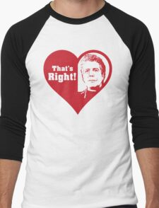 Bourdain Love Men's Baseball ¾ T-Shirt