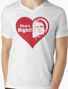 Bourdain Love Mens V-Neck T-Shirt