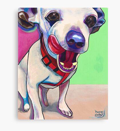 """""""Scrumptious"""" Chihuahua Art Canvas Print"""