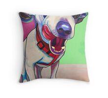 """""""Scrumptious"""" Chihuahua Art Throw Pillow"""