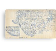 Bicycle Map of Wisconsin (1897) Canvas Print