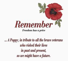 Remember Veterans Poppy T-Shirt