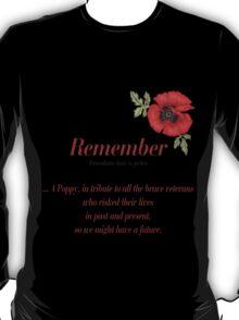 Remember Veterans Poppy T-Shirt