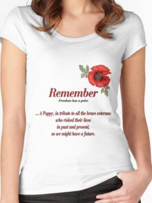 Remember Veterans Poppy Women's Fitted Scoop T-Shirt