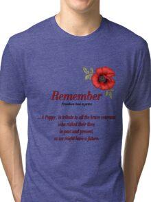 Remember Veterans Poppy Tri-blend T-Shirt