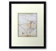 Bissell's railway junction map of Texas (1891) Framed Print