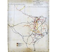 Bissell's railway junction map of Texas (1891) Photographic Print