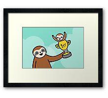 Congratulations Sloth  Framed Print
