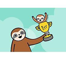Congratulations Sloth  Photographic Print