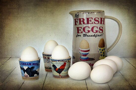 Fresh Eggs for Breakfast by Amanda White