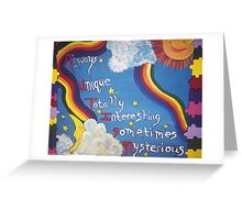 Autism Painting  Greeting Card