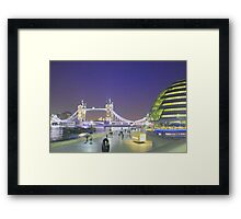 Tower Bridge night view Framed Print