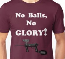 Paintball. No Balls No Glory. WHI. Unisex T-Shirt