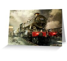 Steam Engine Greeting Card