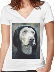 """""""The Dogside Project""""  Women's Fitted V-Neck T-Shirt"""
