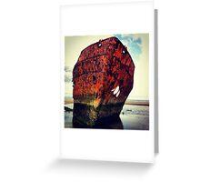 Rusty Ship Greeting Card