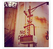Industrial Oil Tanks Photographic Print