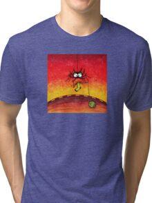 Knitting Spider Tri-blend T-Shirt