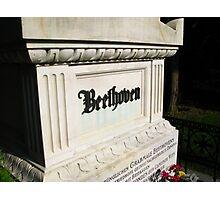 Beethoven Zentralfriedhof Photographic Print