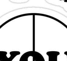 Paintball. Gun Sight on You. BL. Sticker