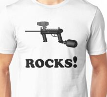 Paintball. ROCKS. BL. Unisex T-Shirt