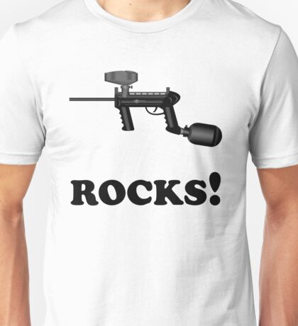 Paintball. ROCKS. BL. Unisex T-Shirt