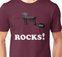 Paintball. ROCKS. WHI. Unisex T-Shirt