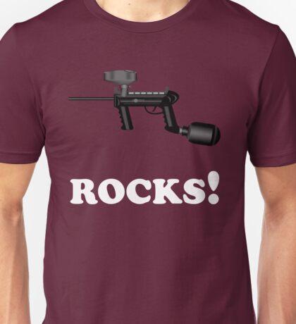 Paintball. ROCKS. WHI. Unisex T-Shirt